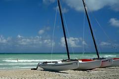 Catamarans on Varadero Beach (CH Y TYMBL) Tags: holiday beach cuba catamaran caribbean varadero solpalameras