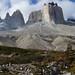 Cerro Mascara (l) and Cuernos Norte (r)