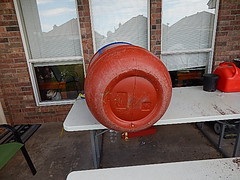 THE BOTTOM OF BARREL (coupe1942) Tags: compost compostbin composter diycompostbin