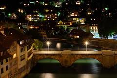 Bern by night / Switzerland (_dreamseller_) Tags: city longexposure night schweiz switzerland view nacht capital hauptstadt stadt fujifilm bern rosegarden fujinon rosengarten langzeitbelichtung xf xseries xe1 fujinonxf35mm fujifilmxe1