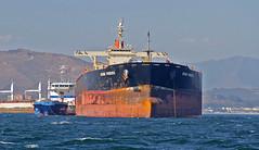 Bunkering (tony.evans) Tags: sea rock ferry plane marine ship dolphin vessel container bunker dolphins catamaran airbus a380 gibraltar tanker levante straitofgibraltar bayofgibraltar straitride yachtbunkering britishairwaysstraitride
