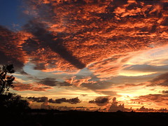Early September Sunsets (Jim Mullhaupt) Tags: blue sunset red wallpaper sky orange color gulfofmexico weather yellow clouds landscape evening coast nikon flickr florida dusk september coolpix storms bradenton p510 mullhaupt cloudsstormssunsetssunrises jimmullhaupt