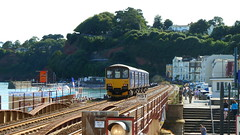 1414A11 (STEVIE B's RAILWAY PHOTO PICS) Tags: xc firstgreatwestern pacers hst dawlish fgw class143 langstonerock arrivaxcvoyagers