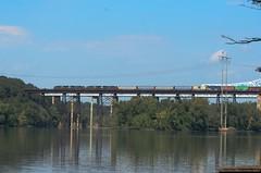 Train crossing Hudson River (gdajewski) Tags: bridge water train river landscape sigma hudson 50500mm rensselaercounty schodackislandsp
