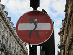 No entry? (-TheDebster-) Tags: london sign noentrygraffiti