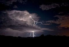 On the Other Side (Steven Maguire Photography) Tags: arizona night clouds landscape monsoon thunderstorm lightning cochisecounty mustangmountains