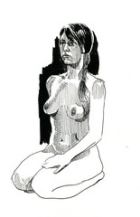 life drawing at Redline (paul heaston) Tags: art notebook nude drawing journal sketching sketchbook figuredrawing redline lifedrawing stillmanandbirn
