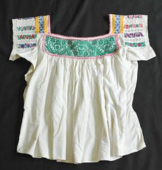 Mexican Blouse (Teyacapan) Tags: clothing df needlework embroidery sewing mexican textiles puebla ropa blouses mexicanas edomex blusas