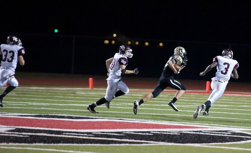"""Run after catch vs. Hallettsville. Freshman year. • <a style=""""font-size:0.8em;"""" href=""""http://www.flickr.com/photos/38444578@N04/15146876671/"""" target=""""_blank"""">View on Flickr</a>"""