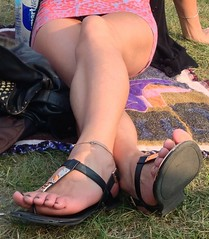 Sexy girls at Phish concert (izwald82) Tags: sexy feet panties legs candid upskirt leggings uploaded:by=flickrmobile flickriosapp:filter=nofilter