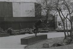 Ky 1 (Casey Mark Brown) Tags: blackandwhite bw london film 35mm skateboarding pentax kodak grain skate portsmouth vans cheesey supreme petersfield nikesb sp500