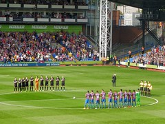 David Whyte minute's applause (Paul-M-Wright) Tags: park uk england david london football crystal palace september v match 13 premier bfc league whyte burnley 2014 cpfc selhurst