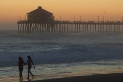 Huntington Beach Trip - Aug 2014 - Sunset (pmarkham) Tags: sunset huntingtonbeach ca usa beach ocean pier waves