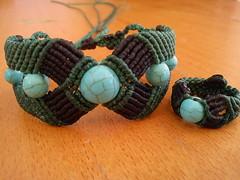 Macram bracelets (marianna micherina) Tags: diy beads handmade turquoise jewelry ring bracelet bracelets midi ethnic macrame handmadejewelry macram cavandoli handmadebracelet ethnicjewelry ethnicbracelet waxedpolyestercord waxedpolyesterthreads polyesterwaxedstring macrambracelets