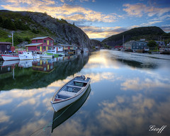 Fishing boat (gwhiteway) Tags: canada tower tourism sunrise newfoundland boat fishing hill stjohns nl cabot vidi travell quidi singal
