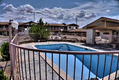 Empty Pool at Abandoned Sand Inn on Route 66 in Holbrook, Arizona in HDR (eoscatchlight) Tags: arizona abandoned hotel route66 motel swimmingpool roadsideamerica holbrook yesteryear fadingamerica ofdaysgoneby