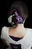 Inside Lighting Lilac 01 (Bright Wish Kanzashi) Tags: flower wearing model handmade silk lilac clasic tsumami kanzashi hairornament tsumamikanzashi lilachairwreath