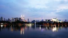 By The Lake (ac_marvin) Tags: lake skyline malaysia kl kualalumpur titiwangsa lakepark park dusk night petronas petronastower menarakl kltower skyscraper tower building archetecture architecture canon eos 750d t6i rebelt6i cityscape topf25