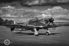 """Moody Skies"" (SJAviation.net) Tags: raf aircraft nikon aviation battleofbritain r4118 hawkerhurricane shuttleworth airshow oldwarden propblur ww2"