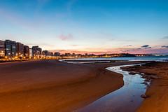 San Lorenzo desde el Piles. Gijn. (David A.L.) Tags: asturias gijn sanlorenzo playa playadesanlorenzo ro piles atardecer