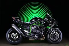 Supercharg(Ed) (LED Eddie) Tags: kawasaki h2 superbike motorcycle motorbike lightpainted ninja akrapovic exhausts long exposure