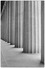 Parthenon Columns - Nashville, TN (gastwa) Tags: nikon f6 58mm f14g afs prime lens kodak tmax 400 film black white bw blackandwhite monochrome analog building parthenon nashville tennessee travel architecture structure andrew gastwirth andrewgastwirth vanderbilt music city urban