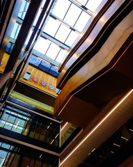 Looking up in the Main Atrium: Skylight & Staircases  #hellobrum #uobnewlibrary (Martin Donohue) Tags: ifttt instagram mdonohue95 looking up main atrium skylight staircases  hellobrum uobnewlibrary