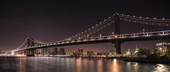 Manhatten Bridge (Colin Freeman Photography) Tags: ny newyork manhatten river bridge skyline skyscrape building architectrure water night exposure light brooklyn nikon d750 honeymoon america usa reflection