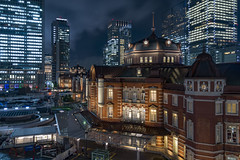 Nightly Tokyo @ Tokyo Station (tapanuth) Tags: tokyo station train architecture railway historical european artistic building old heritage tourism travel japan shinkansen capital chiyoda night cityscape marunouchi business district construction beautiful asia city urban public transport photography