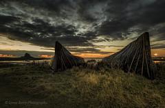 UPTURNED (lynneberry57) Tags: fishingboats upturned holyisland lindisfarne northumberland sunrise clouds sun colours sky water sea tide island landscape seascape canon 70d leefilters castle flickr