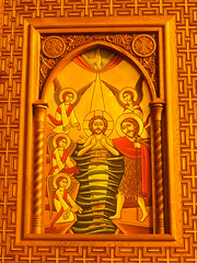 Cathedral of St Michael the Archangel, Aswan, Egypt (Grangeburn) Tags: aswan egypt stmichael coptic copticchristians geotagged architecture egyptianarchitecture holyplaces houseofgod religion saints