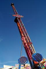 DSC02248 (A Parton Photography) Tags: fairground rides spinning longexposure miltonkeynes fireworks bonfire november cold