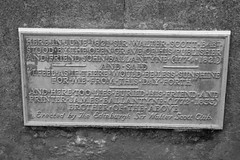 Where Walter Scott Once Wept (byronv2) Tags: blackandwhite blackwhite bw monochrome plaque graveyard kirkyard canongatekirk canongate oldtown royalmile cemetery gravestone grave literature books history sirwalterscott johnballantyne jamesballantyne publisher bookseller