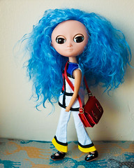 New hair girl (Fifilatrixabel ) Tags: moof doll blue mohair reroot by fifi