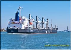 African Raven 1551 LR (bradleybennett) Tags: cargo vessel ship shipping delta water river ocean tanker antioch port stockton african raven africanraven