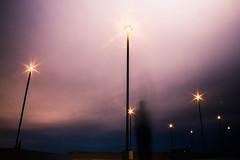 Erase. (cara zimmerman) Tags: indianapolis sunset cloudy parkinggarage selfie lights