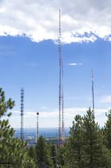 Lookout Mountain Antennas (photographyguy) Tags: lookoutmountain colorado rockies rockymountains antennas communication sky mountain vista clouds frontrange
