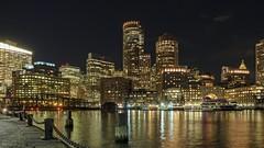Boston Nightscape (davelemi) Tags: boston seaport nightscape olympus omg em1 massachusetts