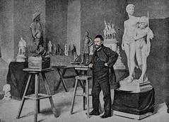 The Swedish sculptor John Brjeson in his studio (1891) (frankmh) Tags: artist art sculptor sculpture studio sweden swede indoor