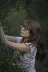 Chiara #8 (edgardomaxia) Tags: people beautiful beauty wood autumn portrait girl cute pretty eyes red green hair bokeh 50mm