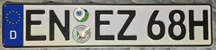 GERMANY ---HISTORIC VEHICLE PLATE, N SUFFIX (woody1778a) Tags: germany deutschland licenseplate mycollection myhobby europe europa alpca1778 numberplate