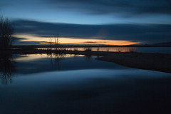 Serenity in Blue (mclcbooks) Tags: sunrise dawn daybreak sky morning landscape seascape clouds reflections lakechatfield chatfieldlakestatepark colorado autumn fall longexposure le bluehour