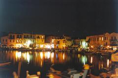 Rethymno (1990) (alkanast) Tags: kriti crete hellas greece   film water sea   rethymno   nightshot   venezian harbour oldhouse port