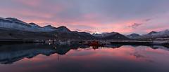 Evening at the harbour (*Jonina*) Tags: iceland sland faskrudsfjordur fskrsfjrur sunset slsetur harbour hfnin reflection speglun boats btar sky himinn jnnagurnskarsdttir