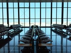 Hamad International Airport (osteras) Tags: reflection chair airport window hamad qatar doha