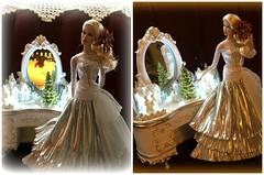 Vanessa ...  One Last Tme (Land of Dolls) Tags: diorama 16thscale integrity christmas musicbox lights poinsettia fashions vanessaperrin fashionroyaltydolls