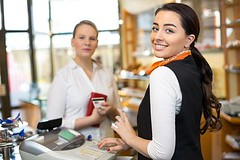 Client At Shop Paying At Cash Register (etelkacastaedaa) Tags: buy buying card cash cashcard cashier checkout client counter credit customer desk employee happy people person register retail sale salesperson saleswoman service shop shopkeeper shopping smiling staff store work