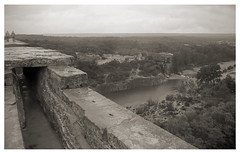 old stuff 391 (beauty of all things) Tags: frankreich france oldstuff sw bw analog pontdugard