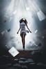 Knowledge is Power (Diana Simumpande) Tags: selfportrait girl papers conceptual composite power superhero flying levitation