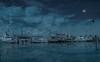 The Blue Hour (Jims_photos) Tags: inglesidetexas water texas topazlabssoftware topazlabs topazsoftware texascoast yacht outdoor outside ocean adobelightroom adobephotoshop shadows sailboats sailboat seagulls docks fishingboat jimallen lightroom cloudy clouds coastalscene boats nopeople nikon7100 nightphotos nightshot nightimages morninglight moon